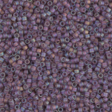 Delica Beads (Miyuki), size 11/0 (same as 12/0), SKU 195006.DB11-0869, matte transparent mauve B, (10gram tube, apprx 1900 beads)