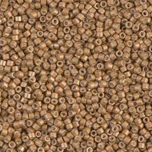 Delica Beads (Miyuki), size 11/0 (same as 12/0), SKU 195006.DB11-1163, galvanized matte mead, (10gram tube, apprx 1900 beads)