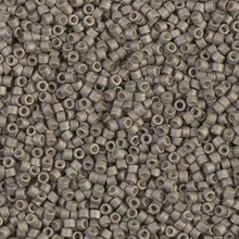 Delica Beads (Miyuki), size 11/0 (same as 12/0), SKU 195006.DB11-1169, galvanized matte pewter, (10gram tube, apprx 1900 beads)