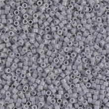 Delica Beads (Miyuki), size 11/0 (same as 12/0), SKU 195006.DB11-1139, opaque ghost grey, (10gram tube, apprx 1900 beads)