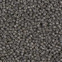 Delica Beads (Miyuki), size 11/0 (same as 12/0), SKU 195006.DB11-1175, galvanized matte graphite, (10gram tube, apprx 1900 beads)