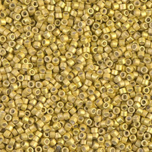 Delica Beads (Miyuki), size 11/0 (same as 12/0), SKU 195006.DB11-1154, galvanized semi-frosted zest, (10gram tube, apprx 1900 beads)