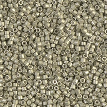 Delica Beads (Miyuki), size 11/0 (same as 12/0), SKU 195006.DB11-1181, galvanized semi-frosted aloe, (10gram tube, apprx 1900 beads)