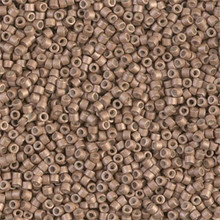 Delica Beads (Miyuki), size 11/0 (same as 12/0), SKU 195006.DB11-1162, galvanized matte champagne, (10gram tube, apprx 1900 beads)