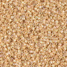 Delica Beads (Miyuki), size 11/0 (same as 12/0), SKU 195006.DB11-1571, opaque pear AB, (10gram tube, apprx 1900 beads)