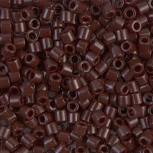 Miyuki Delica Beads, Large, size 8/0, SKU 195008.DBL8-0734, opaque chocolate, (1 10gr tube; apprx 330 beads)