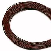 Leather, European (Greek), Round Cord, 1.5mm, Garnet, 50-meter skein, (1 skein)