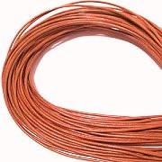 Leather, European (Greek), Round Cord, 1.5mm, Salmon, 50-meter skein, (1 skein)