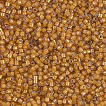 Delica Beads (Miyuki), size 11/0 (same as 12/0), SKU 195006.DB11-1778, white lined topaz AB, (10gram tube, apprx 1900 beads)