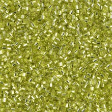 Japanese Miyuki Seed Beads, size 15/0, SKU 189015.MY15-0014cut, chartreuse silver lined, (1 12-15gram tube - apprx 3500 beads)
