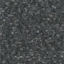 Japanese Miyuki Seed Beads, size 15/0, SKU 189015.MY15-0152cut, gray transparent cut, (1 12-13gram tube - apprx 3500 beads)
