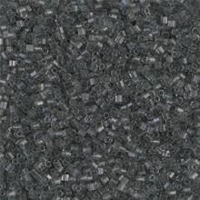 Japanese Miyuki Seed Beads, size 15/0, SKU 189015.MY15-0152cut, gray transparent cut, (1 12-13gram tube - apprx 3500 beads)