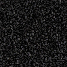 Japanese Miyuki Seed Beads, size 15/0, SKU 189015.MY15-0401Fcut, matte black cut, (1 12-15gram tube - apprx 3500 beads)