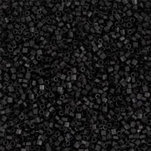 Japanese Miyuki Seed Beads, size 15/0, SKU 189015.MY15-0401Fcut, matte black cut, (1 12-13gram tube - apprx 3500 beads)