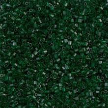 Japanese Miyuki Seed Beads, size 15/0, SKU 189015.MY15-0156cut, dark emerald transparent cut, (1 12-13gram tube - apprx 3500 beads)