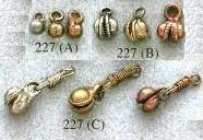 Clacker, Clam Style, Very Small, 4mm, brass, (50 pieces)