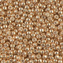 Japanese Miyuki Seed Beads, size 8/0, SKU 189008.MY8-1052, galvanized gold, (1 26-28 gram tube, apprx 1120 beads)