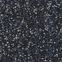 Miyuki 15/0 Small Delicas, SKU 195015.DBS15-0001, gunmetal, (1 10gram tube, apprx 2900 beads)