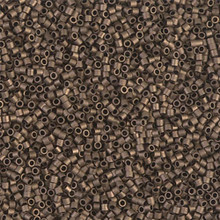 Miyuki 15/0 Small Delicas, SKU 195015.DBS15-0322, matte metallic dark bronze, (1 10gram tube, apprx 2900 beads)