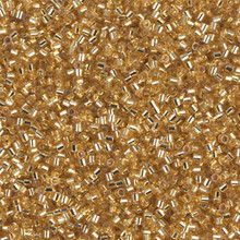 Miyuki 15/0 Small Delicas, SKU 195015.DBS15-0042, gold silver lined, (1 10gram tube, apprx 2900 beads)