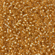 Japanese Miyuki Seed Beads, size 11/0, SKU 111030.MY11-0004F, matte dark gold silver lined, (1 28-30 gram tube, apprx 3080 beads)