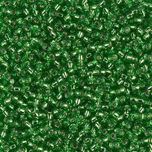 Japanese Miyuki Seed Beads, size 11/0, SKU 111030.MY11-0015, tr light green silver lined, (1 28-30 gram tube, apprx 3080 beads)