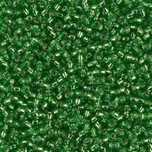 Japanese Miyuki Seed Beads, size 11/0, SKU 111030.MY11-0015, tr light green silver lined, (1 28-30 gram tube, apprx 3080 beads)