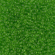 Japanese Miyuki Seed Beads, size 11/0, 0144, transparent lime, (1 28-30 gram tube, apprx 3080 beads)