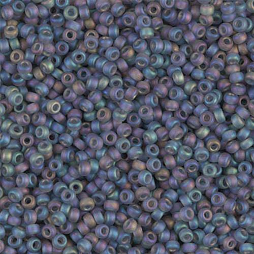 11//0 Japanese Matte Blue AB Seed Beads 28-grams