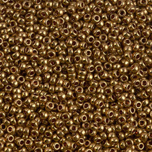 Japanese Miyuki Seed Beads, size 11/0, SKU 111030.MY11-0457L, metallic light bronze, (1 28-30 gram tube, apprx 3080 beads)