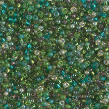 Japanese Miyuki Seed Beads, size 11/0, SKU 111030.MY11-MIX36, mossy glen mix, (1 28-30 gram tube, apprx 3080 beads)