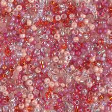 Japanese Miyuki Seed Beads, size 11/0, MIX28, valentine mix, (1 28-30 gram tube, apprx 3080 beads)