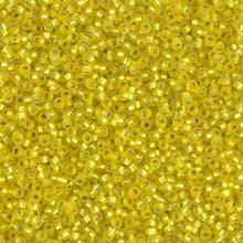 Japanese Miyuki Seed Beads, size 15/0, SKU 189015.MY15-0006F, matte yellow silver lined, (1 12-15gram tube - apprx 3500 beads)