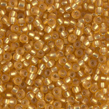 Japanese Miyuki Seed Beads, size 8/0, SKU 189008.MY8-0004F, matte dark gold silver lined, (1 26-28 gram tube, apprx 1120 beads)