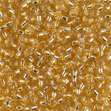 Japanese Miyuki Seed Beads, size 8/0, SKU 189008.MY8-0003, gold silver lined, (1 26-28 gram tube, apprx 1120 beads)