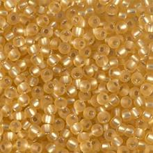 Japanese Miyuki Seed Beads, size 8/0, SKU 189008.MY8-0003F, matte gold silver lined, (1 26-28 gram tube, apprx 1120 beads)