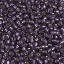 Japanese Miyuki Seed Beads, size 8/0, SKU 189008.MY8-0024F, matte amethyst silver lined, (1 26-28 gram tube, apprx 1120 beads)