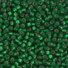 Japanese Miyuki Seed Beads, size 8/0, SKU 189008.MY8-0016F, matte green silver lined, (1 26-28 gram tube, apprx 1120 beads)