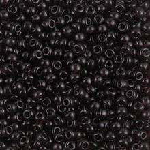 Japanese Miyuki Seed Beads, size 8/0, SKU 189008.MY8-2402, transparent extra dark smoky amethyst, (1 26-28 gram tube, apprx 1120 beads)