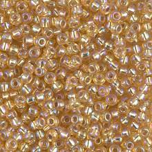 Japanese Miyuki Seed Beads, size 8/0, SKU 189008.MY8-1003, gold s/l ab, (1 26-28 gram tube, apprx 1120 beads)