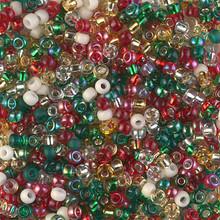 Japanese Miyuki Seed Beads, size 8/0, SKU 189008.MY8-MIX21, rockin' christmas mix, (1 26-28 gram tube, apprx 1120 beads)