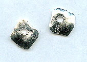 Cornflake Castings, Dangle, Square, 12mm, Silver (over base metal), (2 pieces)