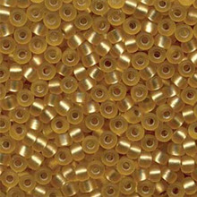 Japanese Miyuki Seed Beads, size 6/0, SKU 111031.MYK6-0003F, gold matte silver lined, (1 tube, apprx 24-28 grams, apprx 315 beads per tube)
