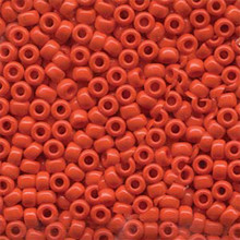 Japanese Miyuki Seed Beads, size 6/0, 0407, opaque vermillion red, (1 tube, apprx 24-28 grams, apprx 315 beads per tube)