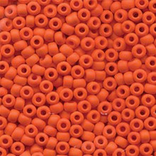 Japanese Miyuki Seed Beads, size 6/0, 0406F, matte opaque orange, (1 tube, apprx 24-28 grams, apprx 315 beads per tube)