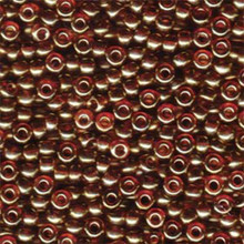 Japanese Miyuki Seed Beads, size 6/0, 0311, topaz gold luster, (1 tube, apprx 24-28 grams, apprx 315 beads per tube)