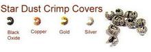Gold-Plated, Star Dust Crimp Cover for Crimp Beads, 4mm, Medium, (12 Star Dust Crimp Covers)