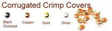 Gold-Plated, Corrugated Crimp Cover for Crimp Beads, 4mm, Medium, (12 Corrugated Crimp Covers)