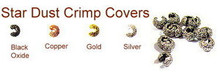 Silver-Plated, Star Dust Crimp Cover for Crimp Beads, 4mm, Medium, (12 Star Dust Crimp Covers)