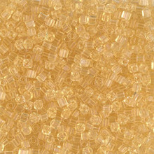 Japanese Miyuki 1.8mm CUBE Beads, SKU 189005.SB18-0132, transparent light topaz, (1 tube, apprx 27-28 grams, apprx 2195 beads)